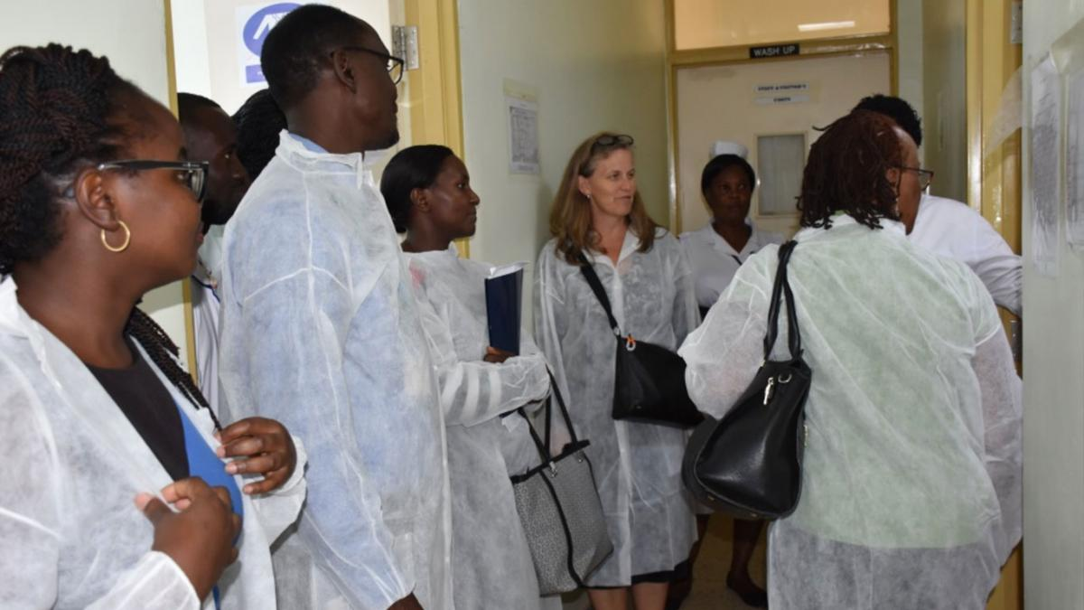 Dr. Lisa Nelson, CDC Country Director Visits the Mildmay Uganda supported Laboratory at Mityana Hospital