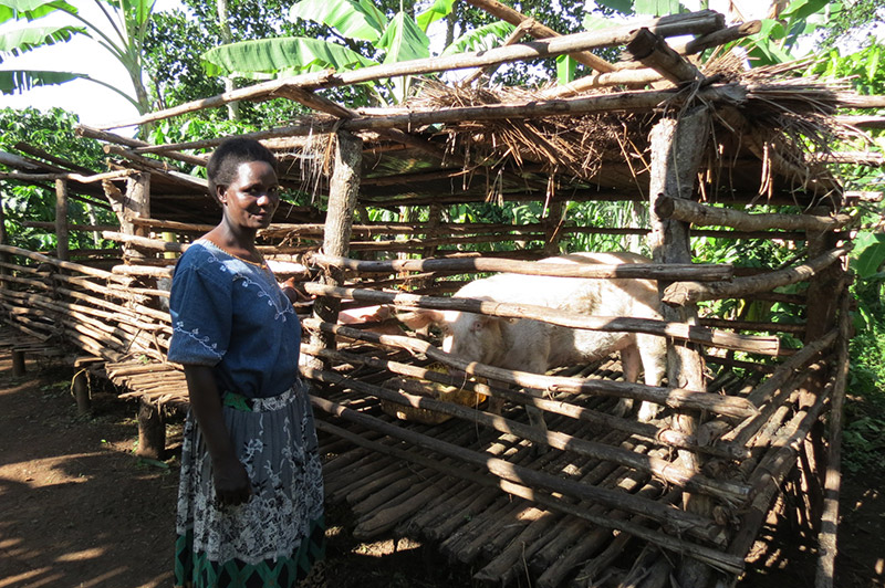 Empowering communities with knowledge and skills to create income generating projects.  Photograph source: Mildmay Uganda.