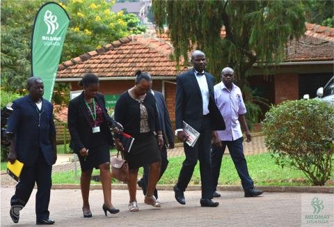 MPs that sit on the parliamentary committee on HIV/AIDS take a site tour of Mildmay Uganda